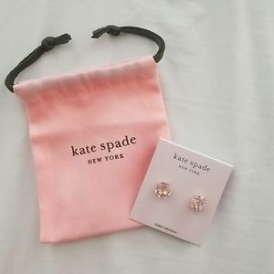 Kate Spade earrings with cinch bag